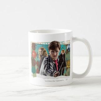 Harry, Hermione och Ron 1 Vit Mugg
