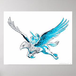 Harry och Hermione på en Hippogriff Poster
