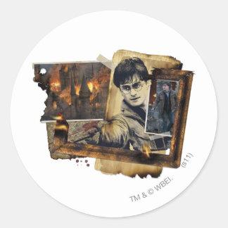 Harry Potter Collage 7 Runda Klistermärken