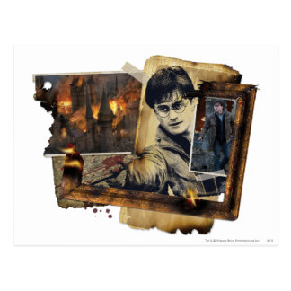 Harry Potter Collage 7 Vykort