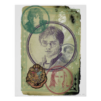 Harry Potter Collage 9 Affisch