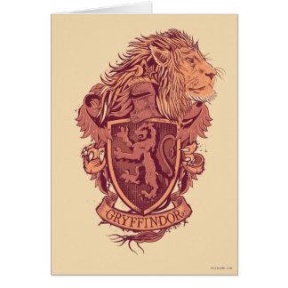 Harry Potter | Gryffindor lejon vapensköld Hälsningskort