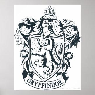 Harry Potter | Gryffindor stencilerar skissar Poster