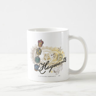 Harry Potter | Hogwarts hus - full färg Kaffemugg