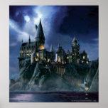 Harry Potter   Hogwarts slott på natten Poster