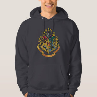 Harry Potter | Hogwarts vapensköld - full färg Sweatshirt Med Luva