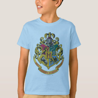 Harry Potter | Hogwarts vapensköld - full färg Tee Shirt
