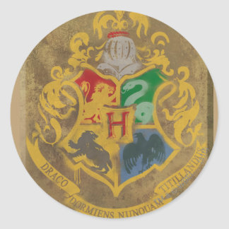 Harry Potter | lantlig Hogwarts vapensköld Runt Klistermärke