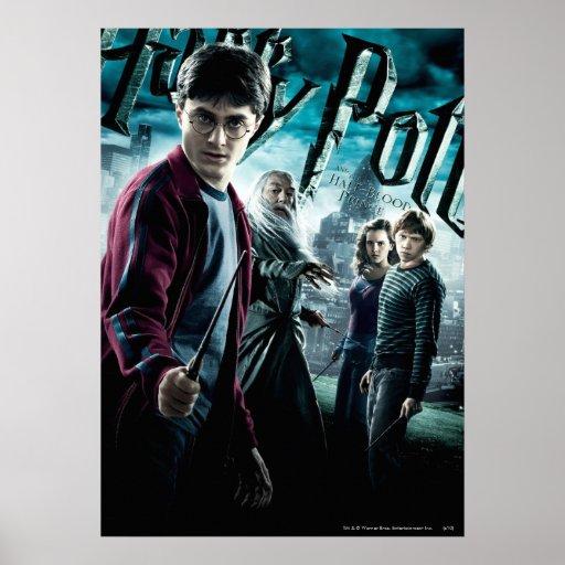 Harry Potter med Dumbledore Ron och Hermione 1 Affisch