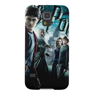 Harry Potter med Dumbledore Ron och Hermione 1 Galaxy S5 Fodral