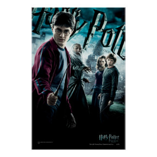 Harry Potter med Dumbledore Ron och Hermione 1 Poster