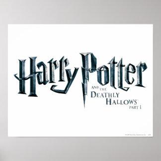 Harry Potter och det Deathly Hallows logotyp 1 2 Poster