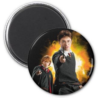 Harry Potter och Ron Weasely Magnet Rund 5.7 Cm