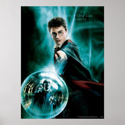 Harry Potter och Voldemort endast ett kan överleva Posters