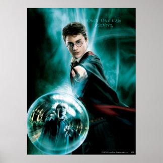 Harry Potter och Voldemort endast ett kan överleva Poster