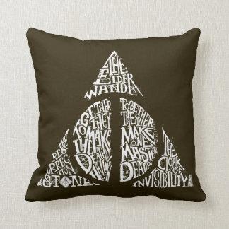Harry Potter pass DEATHLY | HALLOWS typografi Gr Kudde