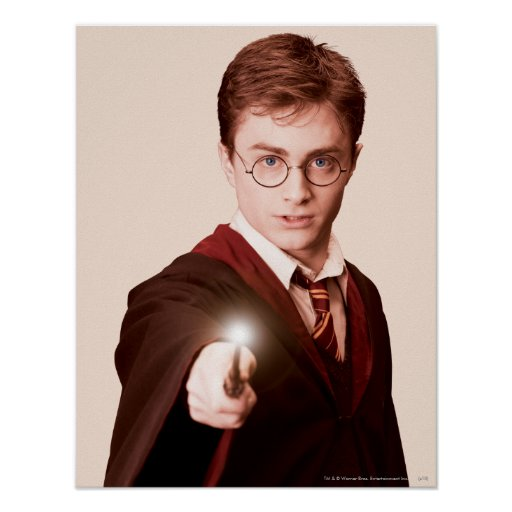 Harry Potter pekar trollspöet Posters