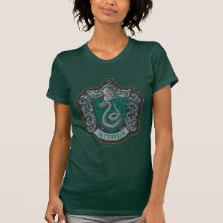 Harry Potter   Retro väldig Slytherin vapensköld Tee Shirt