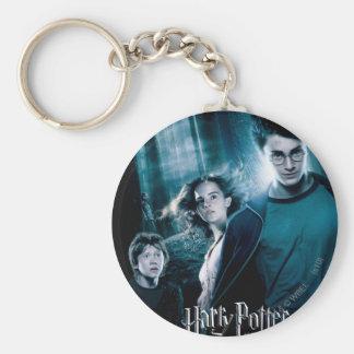 Harry Potter Ron Hermione i skog Rund Nyckelring