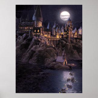 Harry Potter slott | underbar sjö till Hogwarts Poster