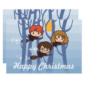 Harry, Ron & Hermione flyg i skogenjul 12,7 X 17,8 Cm Inbjudningskort