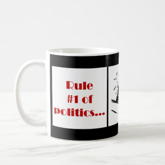 Härska numrerar 1 av politik kaffemugg