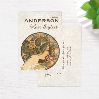 Hårstylisten blommar visitkorten för skönhet visitkort