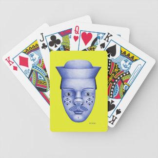 Härva - blått & gult spelkort