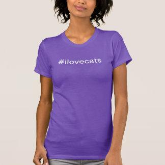 hashtag älskar jag katter - t-skjorta tee shirt