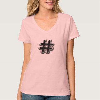 Hashtag numrerar undertecknar nr. tee shirts