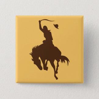 Häst & Cowboy Standard Kanpp Fyrkantig 5.1 Cm