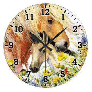 Häst- & fölväggen tar tid på stor klocka
