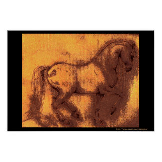 Häst för gammal värld affisch
