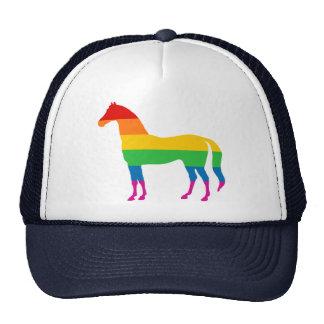Häst för gay prideregnbågerand keps