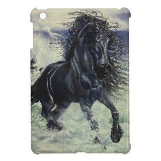 """Häst för hingst """"för Friesianstorm"""" svart i hav iPad Mini Fodraler"""