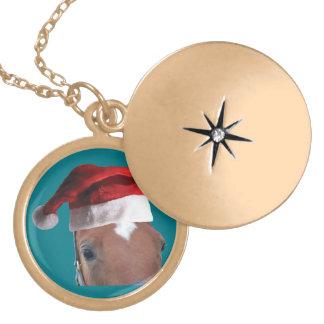 Häst för julSanta hatt Berlockhalsband