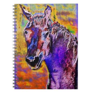 Häst för många färger anteckningsbok
