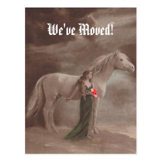 Häst för minnesvärd vi har flyttat för vykort ny