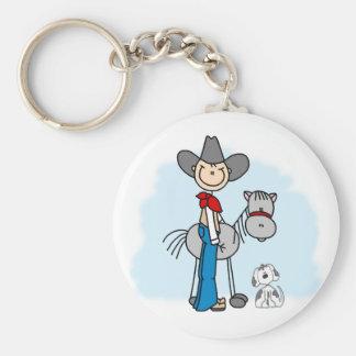Häst för pinneCowboy N Rund Nyckelring