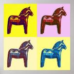 Häst för popkonstdala poster