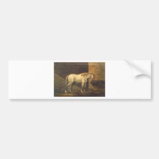 Häst i ladugården av Gheorghe Tattarescu Bildekal