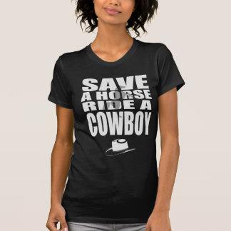 häst och cowboy tee shirt
