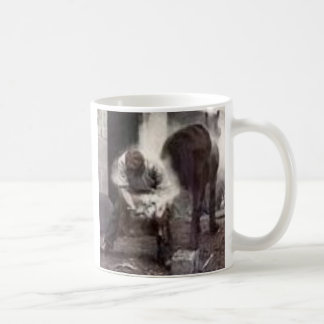 häst och farrier kaffemugg