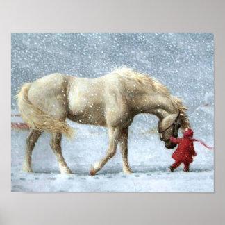 Häst- och flickavinteraffisch poster
