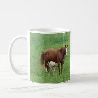 Häst- och fölmugg kaffemugg