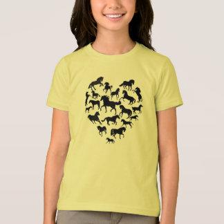 Häst och hjärtaT-tröja T-shirt