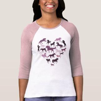 Häst- och hjärtatshirtrosor tröjor