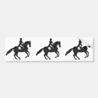 Häst och ryttare för DressageBildekal mosaisk Bildekal