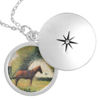 Häst och vagn av Georges Seurat Silverpläterat Halsband