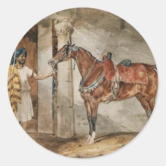 Häst (östra) vid Theodore Gericault Runt Klistermärke